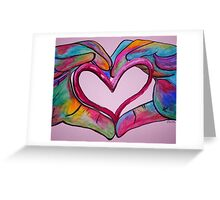 Universal Sign for Love - You Hold my Heart in Your Hand Greeting Card
