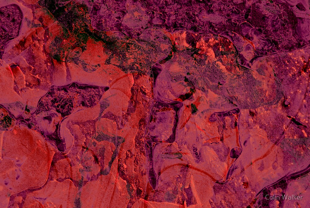 Abstract Ice Red by Colin Walker
