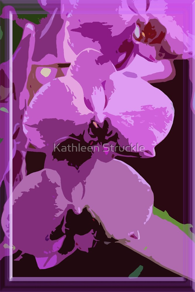 Purple Orchids by Kathleen Struckle