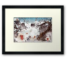 Soaking Japanese Snow Monkeys Framed Print