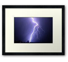 big blue bolt Framed Print