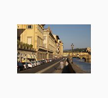 Walking Along Arno River - Florence, Italy Unisex T-Shirt