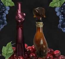 CAT AND DOG WINE BOTTLES PICTURE --POSTER--PRINTS ECT. by ✿✿ Bonita ✿✿ ђєℓℓσ