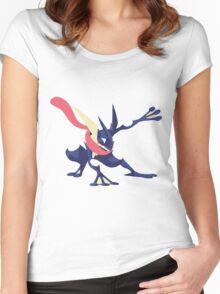 Minimalist Greninja from Super Smash Bros. 4  Women's Fitted Scoop T-Shirt