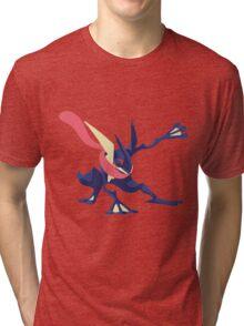 Minimalist Greninja from Super Smash Bros. 4  Tri-blend T-Shirt
