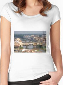 Ponte Vecchio - Florence, Italy Women's Fitted Scoop T-Shirt