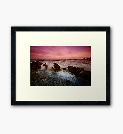 Serenity Beach at Dusk 4 Framed Print