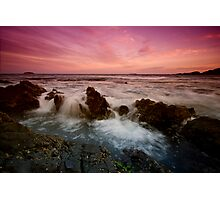 Serenity Beach at Dusk 4 Photographic Print