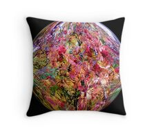 Bright coloured ball Throw Pillow