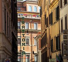 Trattoria - Rome, Italy by Ann Marie Donahue