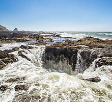 Thor's Well, on the Pacific Coast by journeysincolor