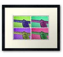 Angel - Gormley meets Warhol Framed Print