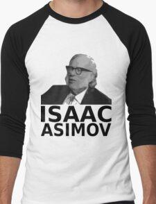Isaac Asimov Black & White Vector Men's Baseball ¾ T-Shirt