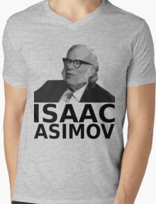 Isaac Asimov Black & White Vector Mens V-Neck T-Shirt