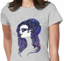 Watercolor Portrait Womens Fitted T-Shirt