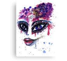 Watercolor Portrait 2 Canvas Print