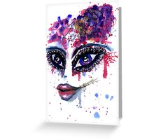 Watercolor Portrait 2 Greeting Card