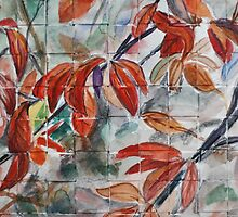 Watercolor Leaves by ArtLuver