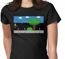 Zombie Skateboard Apocalypse Series 7 Womens Fitted T-Shirt