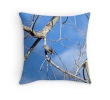 perky little bird Throw Pillow