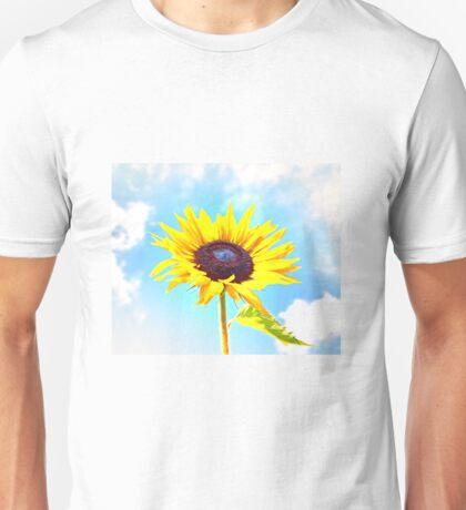 Beautiful Sunflower in Clouds Unisex T-Shirt