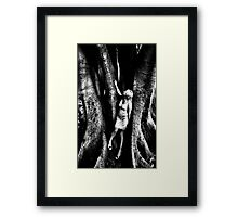 Becoming one with the earth and its creations... Framed Print
