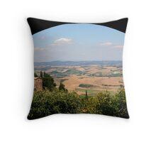 View of the Italian Landscape - Montalcino, Italy Throw Pillow