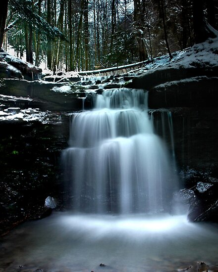 Winter Waterfall by Glenn-Patrick Ferguson
