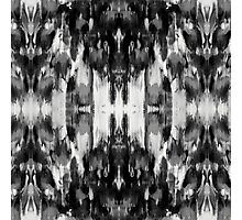 Abstract Poppy in B&W Photographic Print