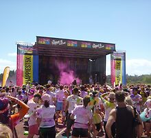 Stage at the Robina Color Run 2014 by FangFeatures
