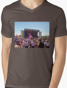 Stage at the Robina Color Run 2014 Mens V-Neck T-Shirt