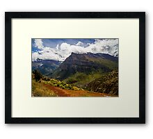 Mountain Landscape in the Nepal Himalayas Framed Print