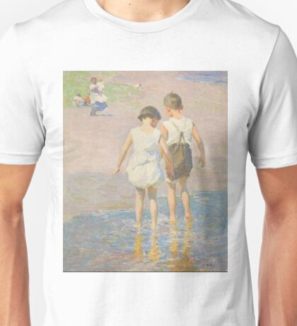 Edward Henry Potthast - Brother And Sister Circa 1915 Unisex T-Shirt