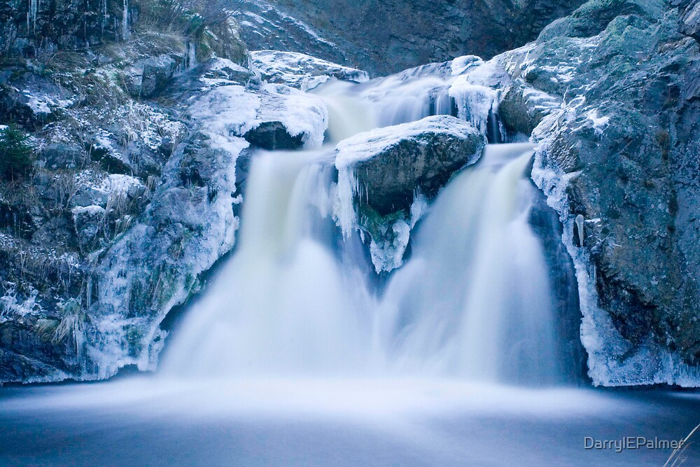 Icy waterfall by DarrylEPalmer