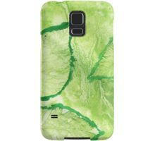 Green Painted Texture with Leaves Samsung Galaxy Case/Skin
