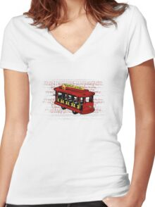 Make Believe Women's Fitted V-Neck T-Shirt