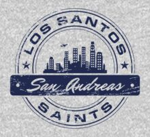 Los Santos City_Blue T-Shirt