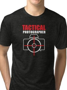 Tactical Photographer Logo - Version 2 Tri-blend T-Shirt