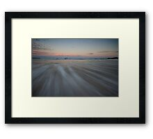 Serenity Beach at Dusk 7 Framed Print