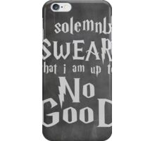 I Solemnly Swear... Harry Potter Marauders Quote iPhone Case/Skin