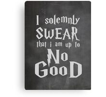 I Solemnly Swear... Harry Potter Marauders Quote Canvas Print