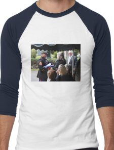 Thanking Your Father For His Service Men's Baseball ¾ T-Shirt