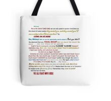 Quotes Galore Tote Bag