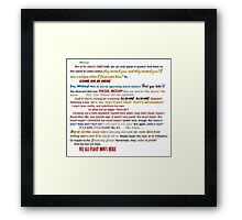 Quotes Galore Framed Print