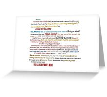 Quotes Galore Greeting Card