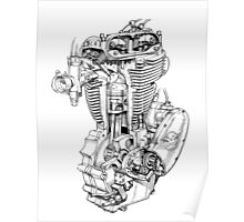 motor cycle engine Poster
