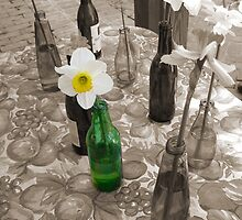 Bottles of Daffodils by Wendy Mogul