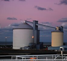 Silos of The Port of Calais by Zoltan