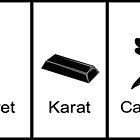 Carat, Caret, Karat, Carrot, Kakarot by Macaluso