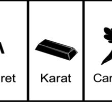 Carat, Caret, Karat, Carrot, Kakarot Sticker
